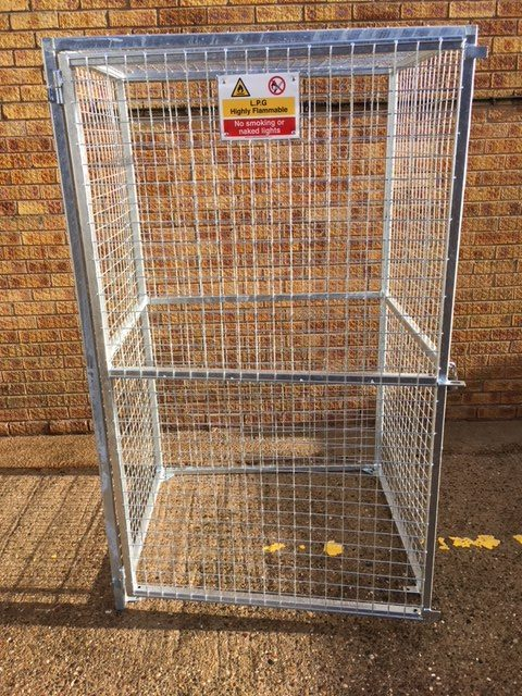 Galvanised 12 Bottle Gas Cage